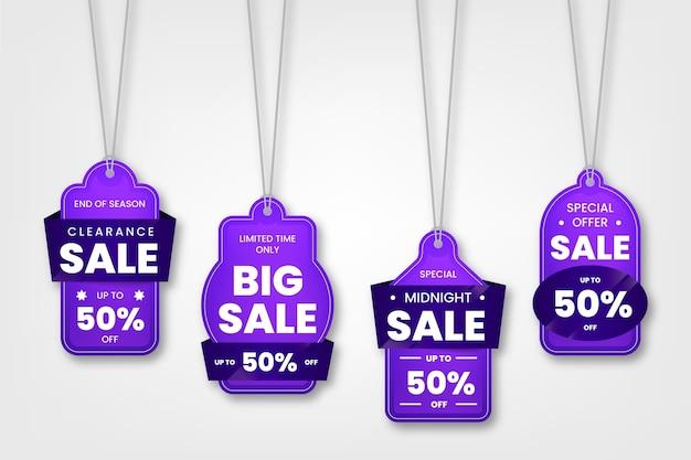 Realistische verkoop tags collectie