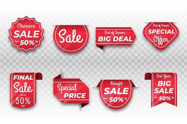 Realistische verkooplabelcollectie