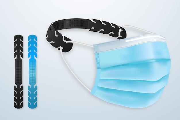 Realistische verstelbare gezichtsmaskerband