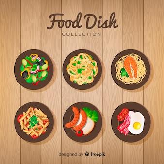 Realistische verzameling voedselschotels