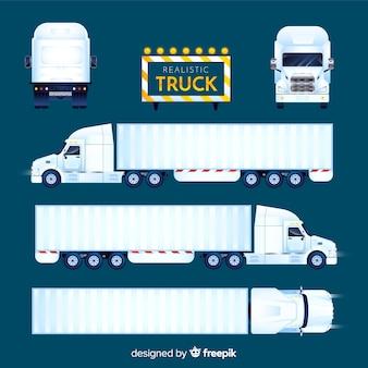 Realistische verzameling vrachtwagenperspectieven