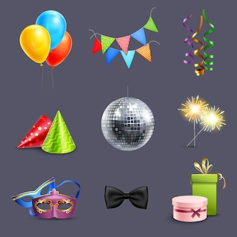 Realistische viering iconen
