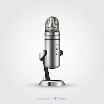 Realistische vintage microfoon