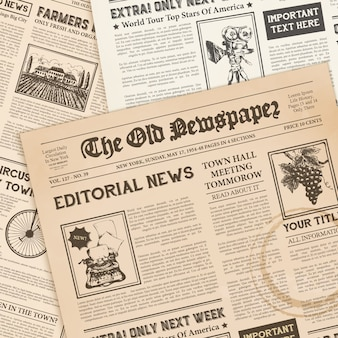 Realistische vintage papieren