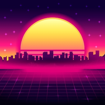 Realistische vintage vaporwave-achtergrond