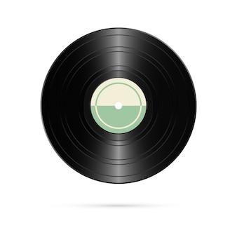 Realistische vinylplaat. retro ontwerp.