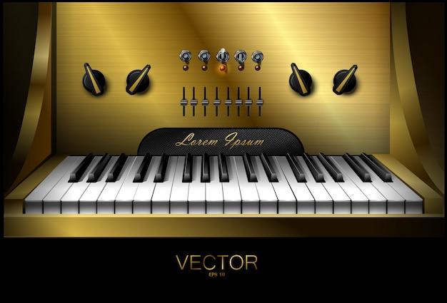 Realistische virtuele synthesizer voor opnamestudio's. piano. .