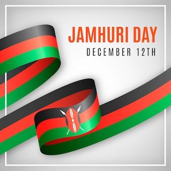 Realistische vlag jamhuri-dag