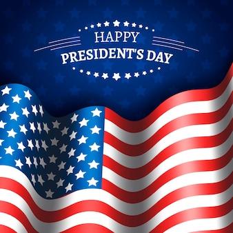 Realistische vlag president dag evenement