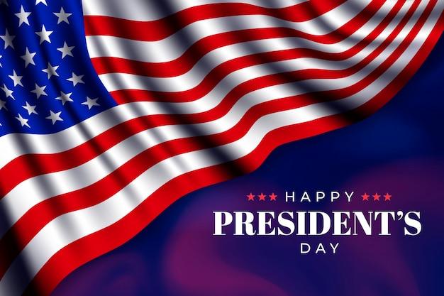 Realistische vlag president dag