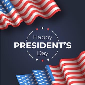 Realistische vlag voor presidenten dag