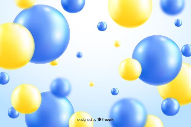 Realistische vloeiende ballen achtergrond