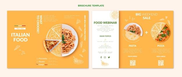 Realistische voedselbrochure