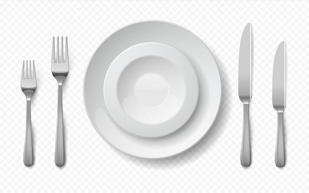 Realistische voedselplaten illustratie