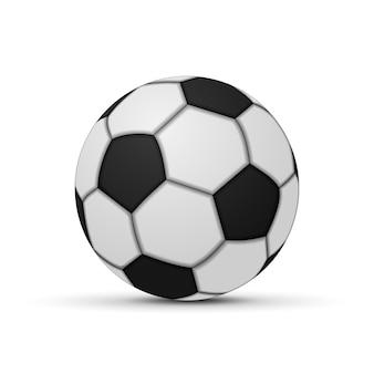 Realistische voetbal geïsoleerd