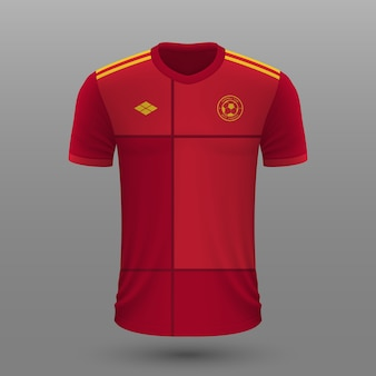 Realistische voetbalshirt van spanje