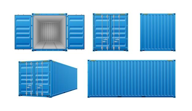 Realistische vrachtcontainers 3d