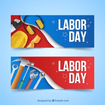 Realistische vs werkdagen banners