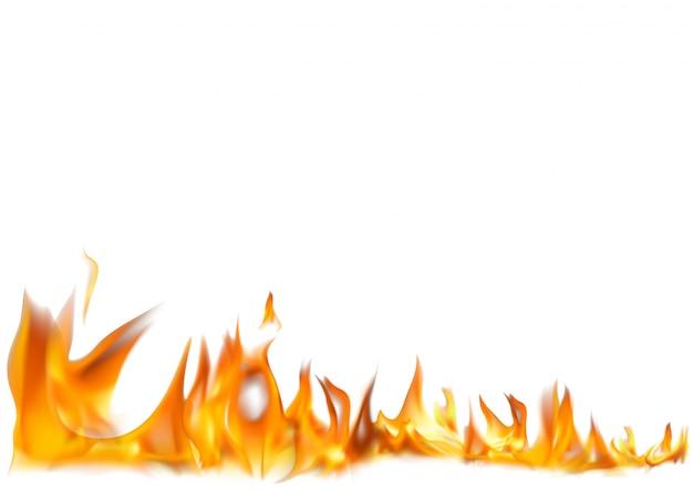 Realistische vuur vlammen achtergrond