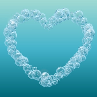 Realistische water bubbels achtergrond