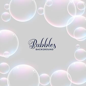 Realistische water bubbels achtergrondontwerp