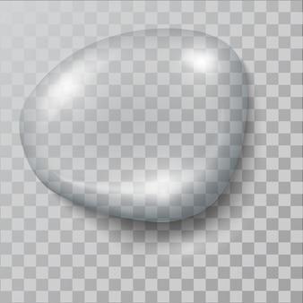 Realistische waterdruppel