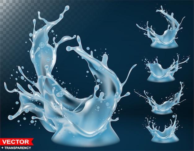 Realistische waterplons barst en kroon