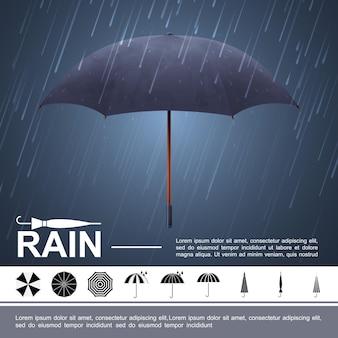 Realistische waterstorm illustratie