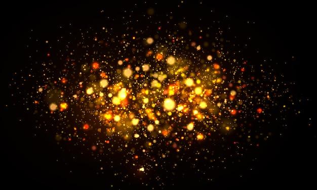 Realistische wazig briljante deeltjes achtergrond