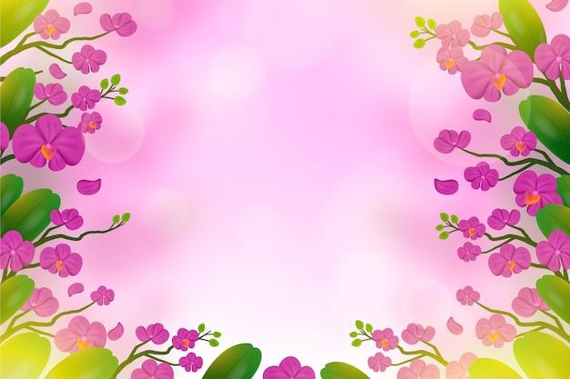 Realistische wazig florale achtergrond