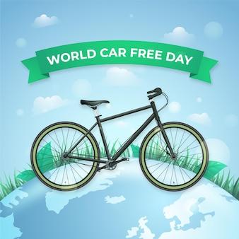 Realistische wereld autovrije dag