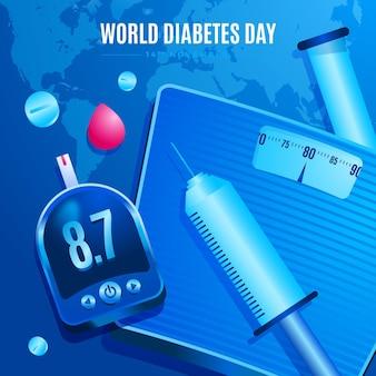 Realistische wereld diabetes dag concept