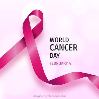 Realistische wereld kanker dag achtergrond