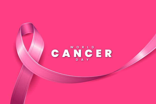 Realistische wereld kanker dag lint