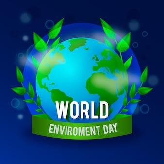 Realistische wereld milieu dag illustratie