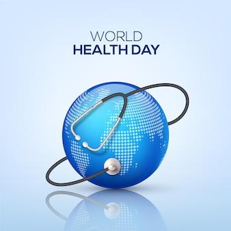 Realistische wereldgezondheidsdag illustratie Gratis Vector