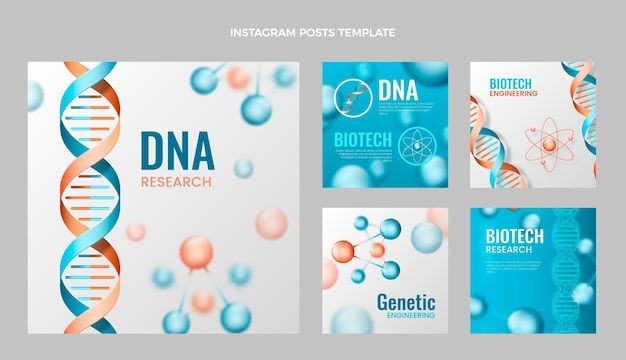 Realistische wetenschap dna instagram post