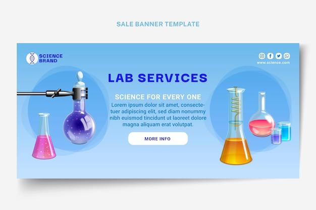 Realistische wetenschappelijke verkoopachtergrond