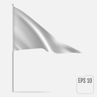 Realistische wimpel sjabloon. driehoek vlag