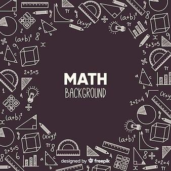 Realistische wiskunde schoolbord achtergrond