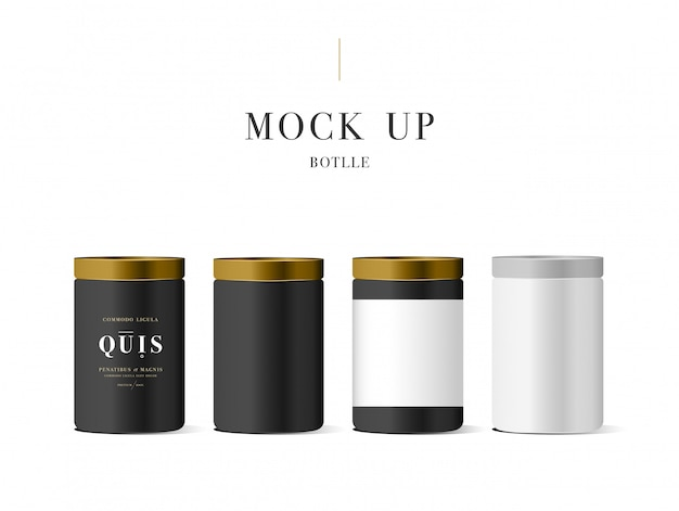 Realistische witte cosmetische crème container