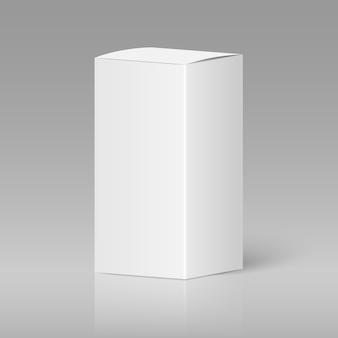 Realistische witte lege doos
