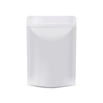 Realistische witte lege voedselverpakking