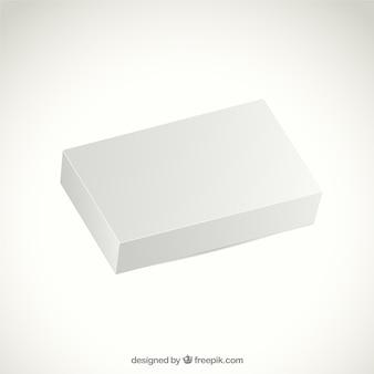 Realistische witte verpakking