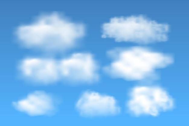 Realistische wolkencollectie