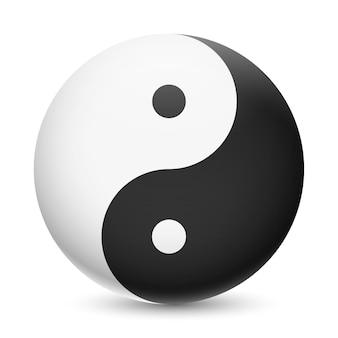 Realistische yin yang illustratie