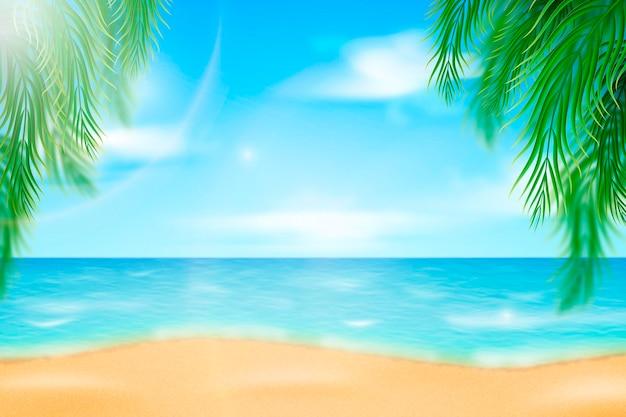 Realistische zomer achtergrond