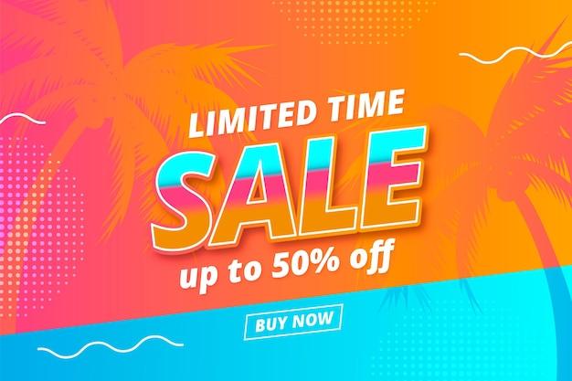 Realistische zomer verkoop illustratie
