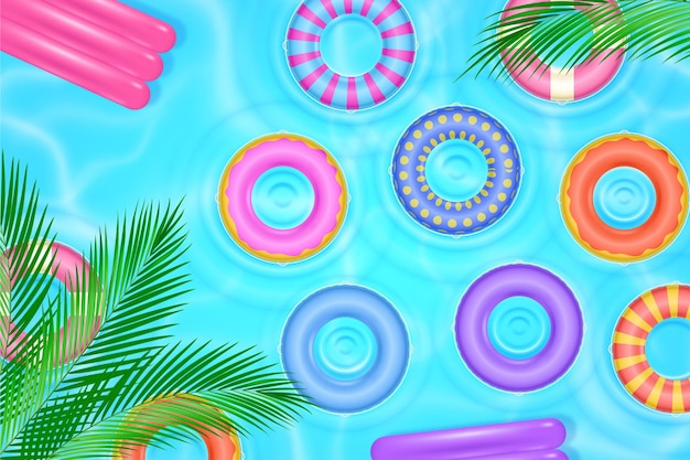 Realistische zomerachtergrond voor videocalls