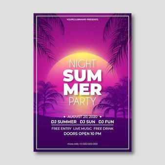Realistische zomerfeest flyer sjabloon